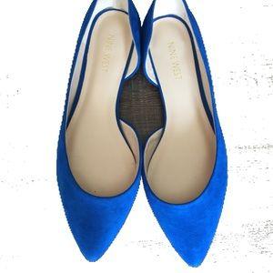 Sapphire blue flats
